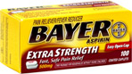 Bayer Aspirin Caplets Extra Strength Easy Open Cap
